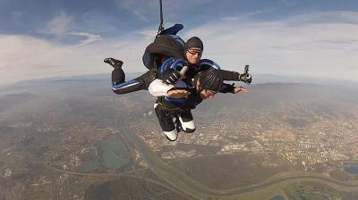 Paralyzed Biker Making Skydiving Proposal in Zagreb